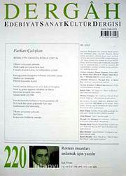 Haziran 2008, Sayı 220, Cilt XVIII / Dergah Edebiyat Sanat Kültür Dergisi