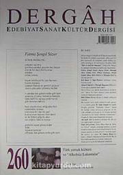 Dergah Edebiyat Sanat Kültür Dergisi Sayı:260 Ekim 2011