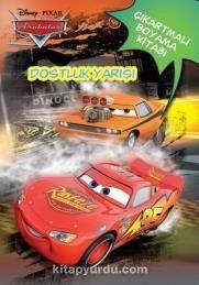 Disney Arabalar Dostluk Yarışı çıkartmalı Boyama Kitabı