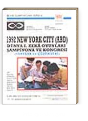 1992 New York City (ABD)Dünya I.Zeka Oyunları Şampiyona ve Kongresi/ Sorular ve Çözümleri