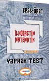 2017 KPSS ÖABT İlköğretim Matematik Çek Kopart Yaprak Test
