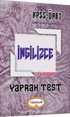 2017 KPSS ÖABT İngilizce Çek Kopart Yaprak Test
