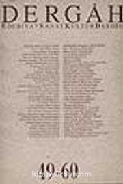 Dergah Edebiyat Sanat Kültür Dergisi 49-60 Cilt 5