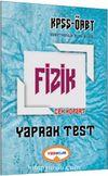 2017 KPSS ÖABT Fizik Çek Kopart Yaprak Test