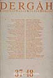 Dergah Edebiyat Sanat Kültür Dergisi 37-48 Cilt 4