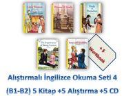 Alıştırmalı İngilizce Okuma Seti 4 (B1-B2) 5 Kitap +5 Alıştırma +5 CD