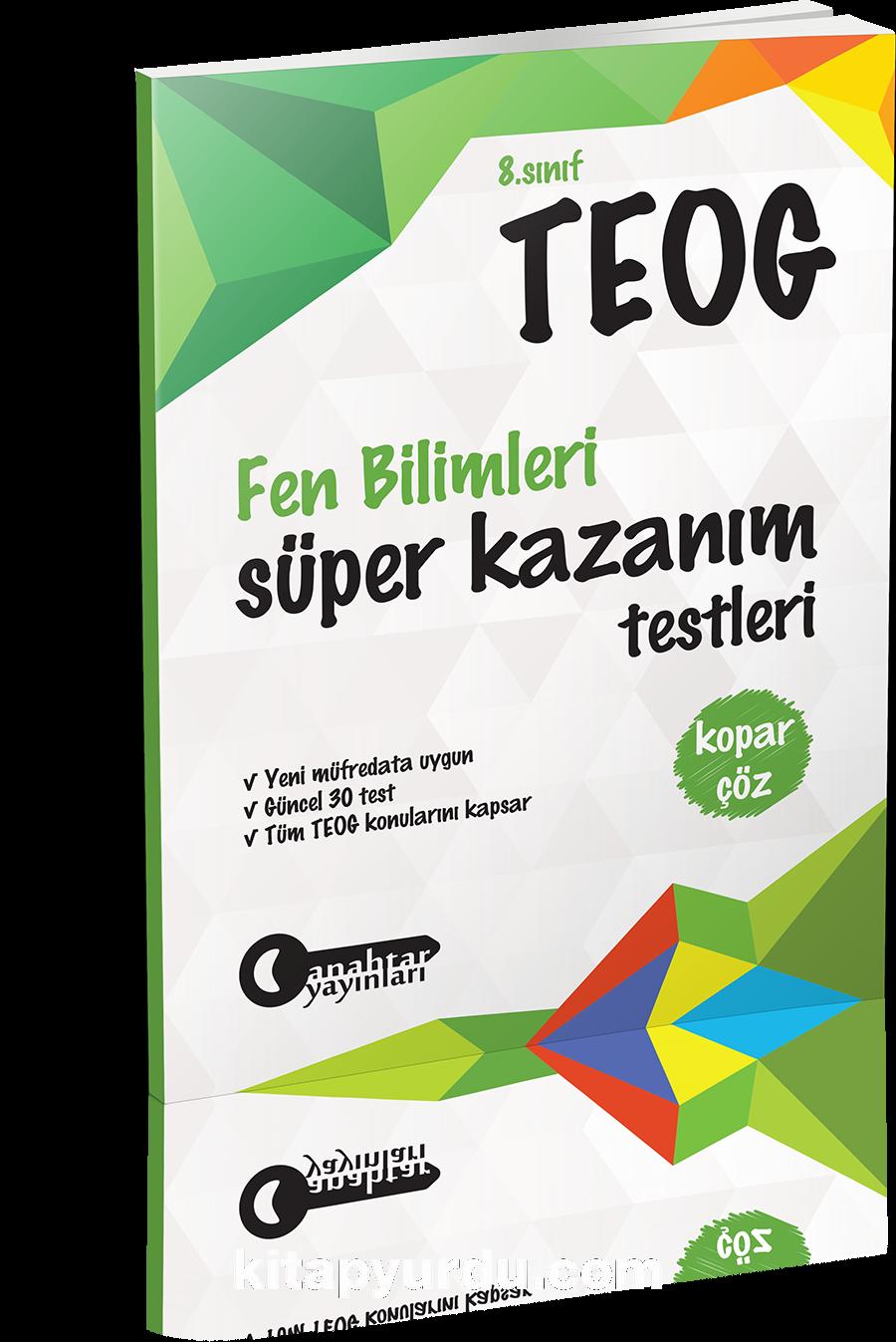 8. Sınıf TEOG Fen Bilimleri Kopar Çöz Süper Kazanım Testleri
