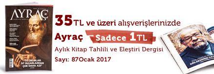 """35TL ve Üzeri Alışverişinize """" Ayraç Dergisi Sayı:87 Ocak 2017 """" Sadece 1 TL"""
