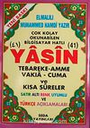 41 Yasin Tebareke Amme Vakıa-Cuma ve Kısa Sureler Satır Altı Renk Uyumlu ve Türkçe Açıklamaları (Rahle Boy-Kod:118)