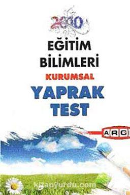 2010 Eğitim Bilimleri Kurumsal Yaprak Test