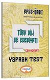 2017 KPSS ÖABT Türk Dili ve Edebiyatı Çek Kopart Yaprak Test