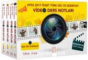 2017 KPSS ÖABT Türk Dili ve Edebiyatı Öğretmenliği Modüler Video Ders Notu Seti (4 Kitap)