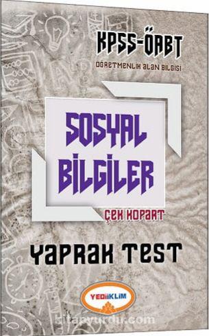 2017 KPSS ÖABT Sosyal Bilgiler Çek Kopart Yaprak Test - Kollektif pdf epub