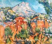 Taş Ocağı Ve St. Victoire Dağı  / Paul Cezanne (CPA 010-50x60) (Çerçevesiz)