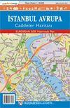 İstanbul Avrupa Caddeler Haritası