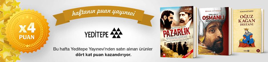 Yeditepe Yayınevi'nden alınan ürünün puanının 4 katı ekstradan hesabınıza yüklenecektir.