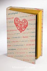 Kitap Şeklinde Ahşap Hediye Kutu Aşkın Dili - Diller - Nostaljik