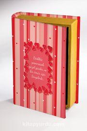 Kitap Şeklinde Ahşap Hediye Kutu Aşkın Dili - Çizgili