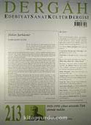 Kasım 2007, Sayı 213, Cilt XVIII / Dergah Edebiyat Sanat Kültür Dergisi