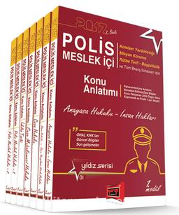 2017 Polis Meslek İçi Sınavlarına Hazırlık Konu Anlatımlı Modüler Set (7 Kitap)