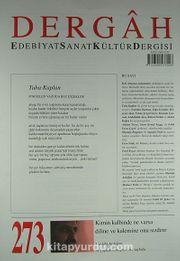Dergah Edebiyat Sanat Kültür Dergisi Sayı:273 Kasım 2012