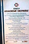 EKEV Akademi Dergisi-Sayı:17/Güz 2003 (1-G-43)