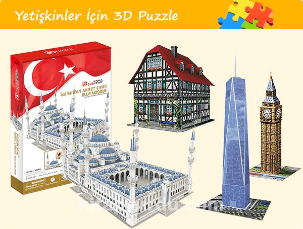 Yetişkinler İçin 3D Puzzle