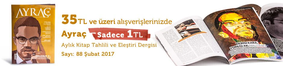 """35TL ve Üzeri Alışverişinize """" Ayraç Dergisi Sayı:88 Şubat 2017 """" Sadece 1 TL"""