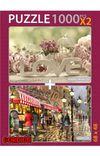 Love Evening Cafe 2x1000 Parça Puzzle Takım
