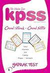 2010 KPSS Genel Yetenek-Genel Kültür Yaprak Test Tüm Adaylar İçin / Evren Karataş