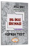 2017 KPSS-ÖABT Okul Öncesi Öğretmenliği Çek Kopart Yaprak Test