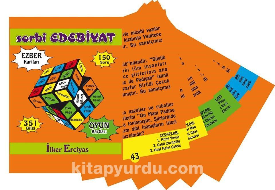 Sorbi Edebiyat Ezber Kartları - İlker Erciyas pdf epub