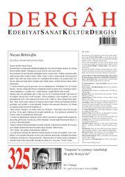 Dergah Edebiyat Sanat Kültür Dergisi Sayı 325 Mart 2017