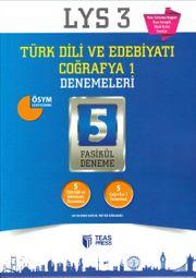 LYS 3 Türk Dili ve Edebiyatı Coğrafya 1 Denemeleri 5 Fasikül Deneme