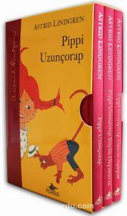Pippi Uzunçorap Serisi  Kutulu Özel Set 3 Kitap (Ciltli)
