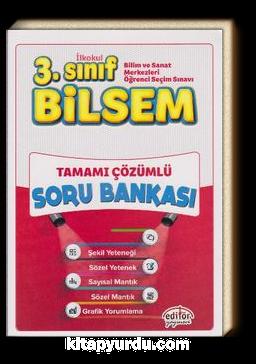 3. Sınıf Bilsem Tamamı Çözümlü Soru Bankası (Büyük Boy)