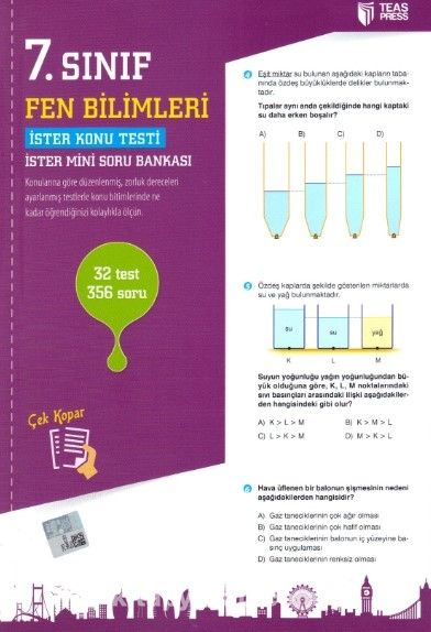 7. Sınıf Fen Bilimleri Yaprak Test Çek Kopar - Kollektif pdf epub