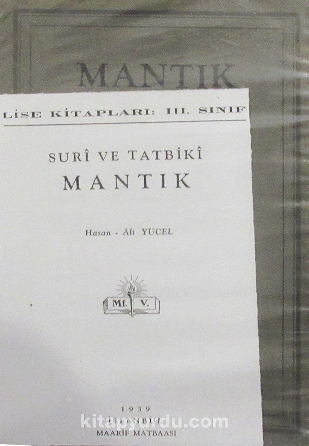 Suri ve Tatbiki Mantık (4-G-2) - Hasan Ali Yücel pdf epub