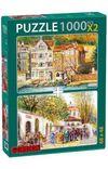 Sarıyer-Eski Pazar Girişi 2x1000 Parça Puzzle Takım