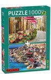 Temel Reis Kasabası-Vintage Cafe 2x1000 Parça Puzzle Takım