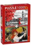 Dance At Bougival-Street Of London 2x1000 Parça Puzzle Takım