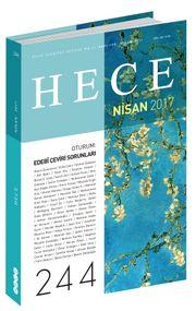 Sayı:244 Nisan 2017 Hece Aylık Edebiyat Dergisi Dosya Şiir 2017