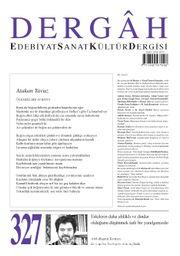 Dergah Edebiyat Sanat Kültür Dergisi Sayı 327 Mayıs 2017