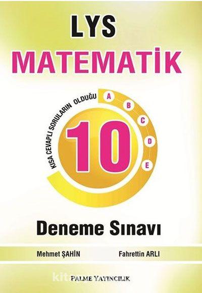 LYS Matematik 10 Deneme - Mehmet Şahin pdf epub