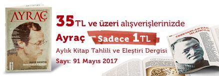 """35TL ve Üzeri Alışverişinize """" Ayraç Dergisi Sayı:91 Mayıs 2017 """" Sadece 1 TL"""