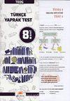 8. Sınıf TEOG Türkçe Yaprak Test
