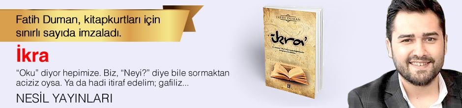 İkra. Fatih Duman, Kitapkurtları için Sınırlı Sayıda İmzaladı.
