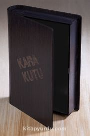 Kitap Şeklinde Mıknatıslı Ahşap Akordeon Kutu - Kara Kutu