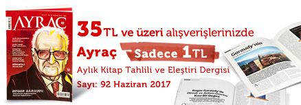 """35TL ve Üzeri Alışverişinize """" Ayraç Dergisi Sayı:92 Haziran 2017 """" Sadece 1 TL"""