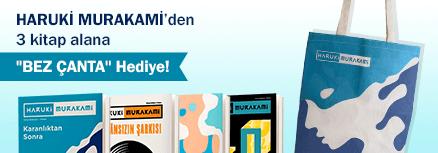 "Haruki Murakami'den 3 Kitap alana ''Bez Çanta "" Hediye…"